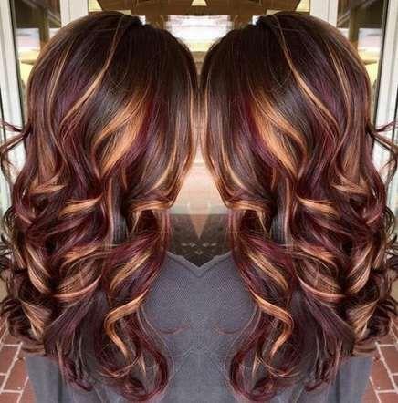 56 neue Ideen für Haarfarbe unterstreicht Karamell ombre schokoladenbraun – # für #haarfarbe …