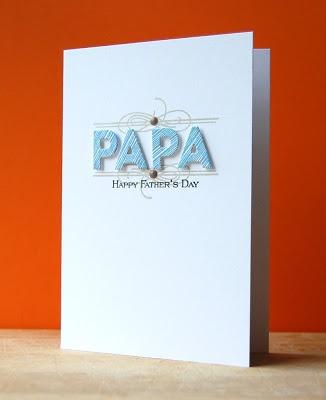 Papa Card by Cristina Kowalczyk for Papertrey Ink (April 2013)