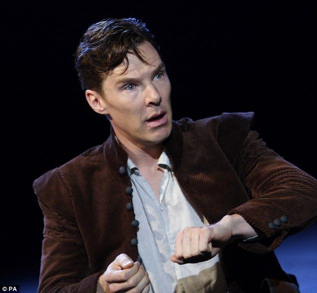 Centre stage: Benedict Cumberbatch rehearse a scene from Tom Stoppard¿s Rosencrantz And Guildenstern