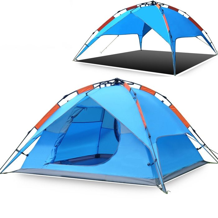 70.00$  Watch here - http://aizec.worlditems.win/all/product.php?id=32591515443 - 2015 New Hewolf Automatic Tent High Quality Double Layer Prevent Rainstorm Waterproof 3-4 Person Barraca De Camping Grande Toldo