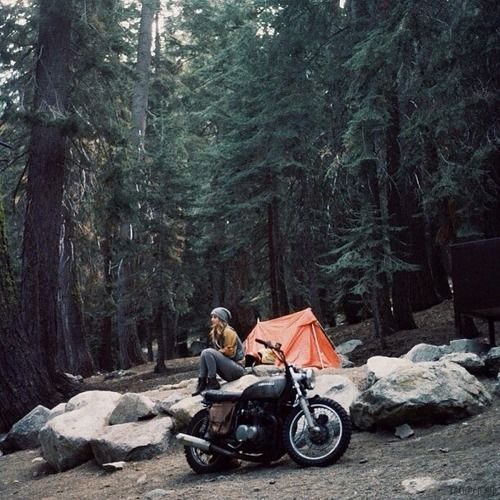 one day I think I'm going to try motorcycle camping like this