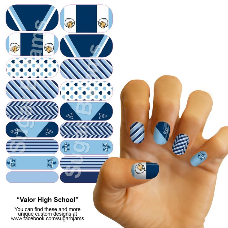 Valor Christian High School Customized Jamberry Nail Wraps.  Highlands Ranch, CO