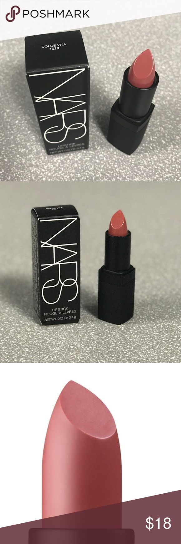 NARS Sheer Lipstick - Dolce Vita Sheer Lipstick - Dolce Vita (Dusty Rose). A beautifully sheer formula infused with ingredients to improve the condition of the lips. Sheer, long lasting color pigments have been suspended in this translucent formula to provide a sophisticated shine.  Lightweight formula glides on smoothly Lush shade range Patented blend of conditioners and antioxidants hydrate, nourish and protect lips NARS Makeup Lipstick