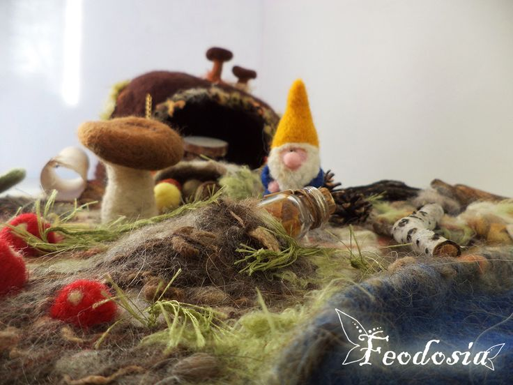 дом гнома, дом для гнома, волшебный дом, валяный дом, felt house, gnome house, gnome home