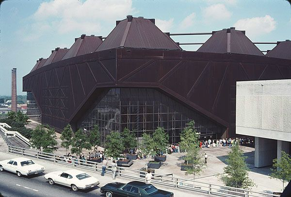 1978 view of the Omni Coliseum in downtown Atlanta.