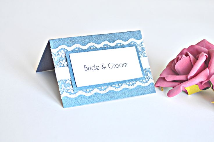 Navy Blue Lace place cards #etsy #navyplacecards #jasminweddingprints #laceplacecards