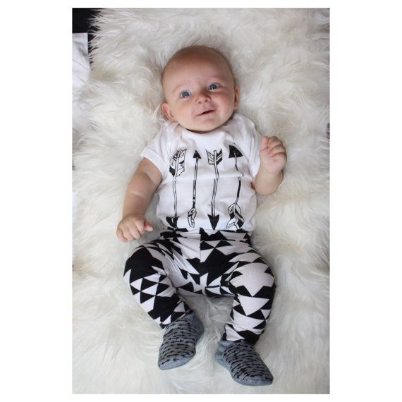 Arrows - Cool Baby Clothes - One Piece Bodysuit Romper - Childrens Clothing - Hipster Baby Shirt - Boys Clothing - Girls Clothing.     // by the