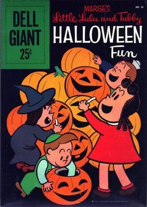 Little Lulu vintage Halloween cover comic book by Dell.