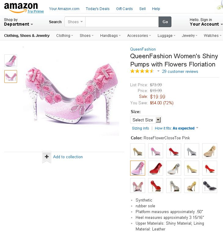 QueenFashion Women's Shiny Pumps with Flowers Floriation
