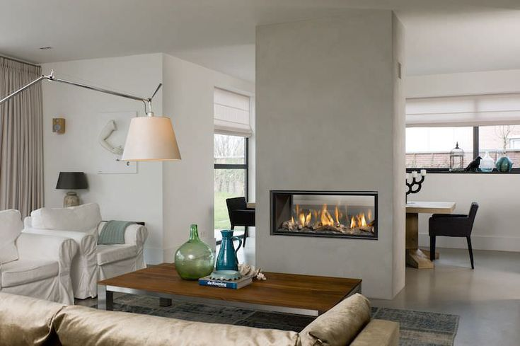 Gas fireplace / contemporary / closed hearth / built-in HORIZON BELL S. TUNNEL 3 Bellfires