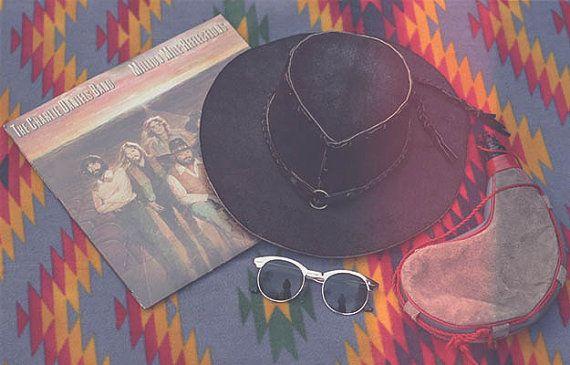 Vintage 70's Hippie mexican cowboy Hat easy rider by LMVintageNC