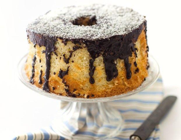 Chiffon cake al cocco e cioccolato fondente