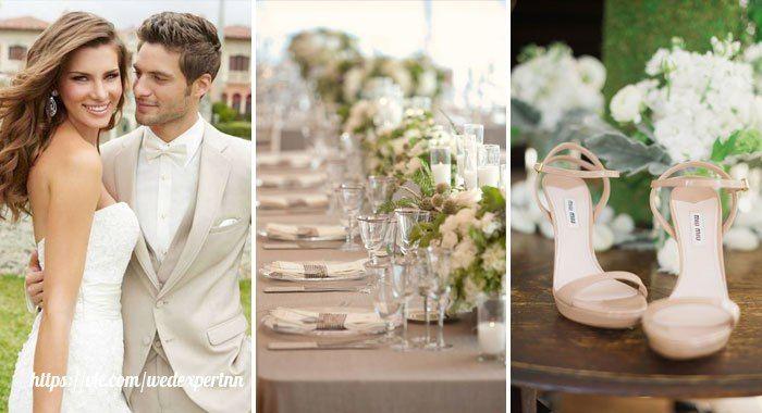 [#цвет_свадьбы@wedexpertnn | Бежевый ]  Традиционно бежевый используется для нарядов, оформления свадебного зала. У многих этот цвет ассоциируется с гармонией, удовлетворением, спокойствием. Бежевый цвет будет уместен для такого торжественного мероприятия, ведь он хорошо сочетается с аксессуарами в стиле «винтаж». Если вы планируете сделать ретро-свадьбу, то вам следует обратить свой взор на этот цвет. Его стоит комбинировать с серым, а также сливовым цветами.
