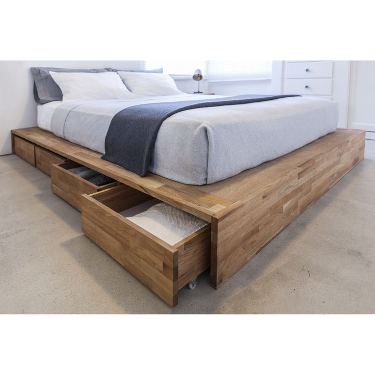Features: -Walnut finish. -LAXseries collection. -Sturdy: Yes. -Squeaky: No. Frame Material: -Wood. Under Bed Storage: -Yes. Slats Required: -Yes. Finish or Fabric: -English Walnut. Slats Inc