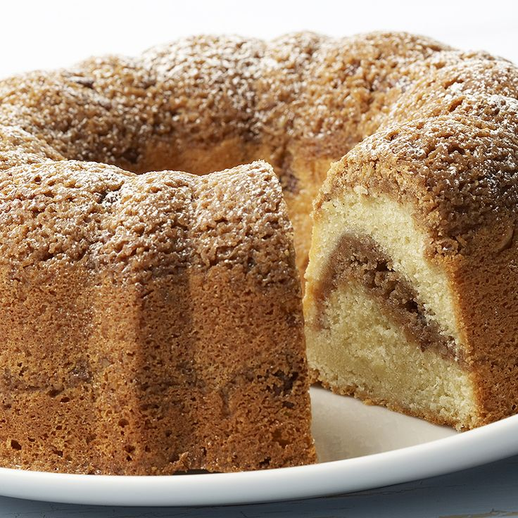 Cinnamon Streusel Cake - try it with a delicious vanilla glaze!