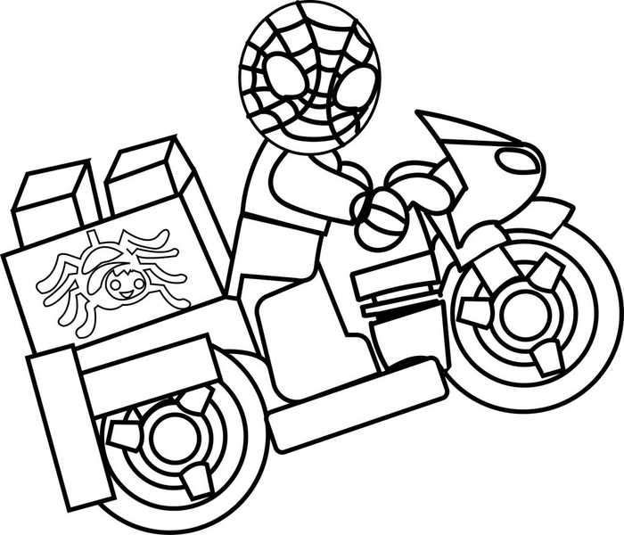 Lego Spiderman Motorcycle Coloring Pages Spiderman Coloring Lego Coloring Pages Cartoon Coloring Pages