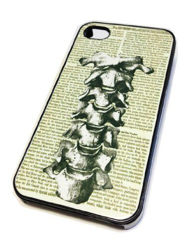 Apple iPhone 4 4G 4S Case Cover Skin BLACK HARD Plastic Medical Spine Retro Vintage Hipster Dictionary Art Print by MonoThings, http://www.amazon.com/dp/B00EMLSB18/ref=cm_sw_r_pi_dp_qayesb1RPQWD2
