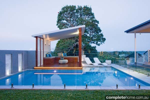 An inviting swimming pool and gazebo ensure a resort-style outdoor living experience