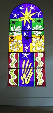 Henry Matisse & Stained Glass http://maggiemaggio.com/color/2014/04/cutting-into-color-matisse-at-the-tate/