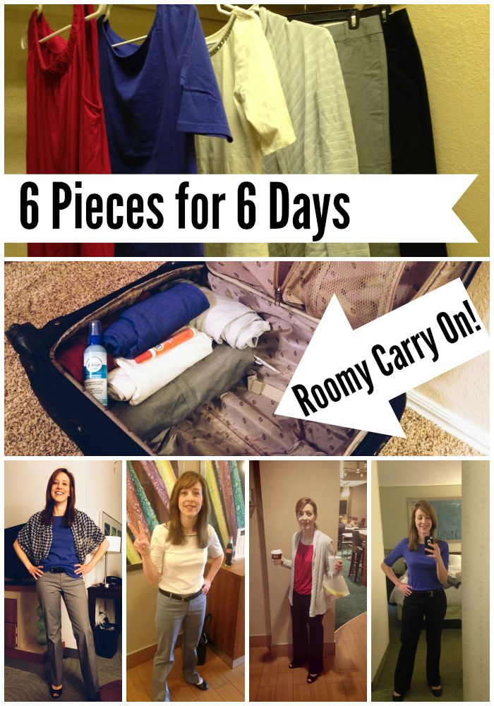 6 Pieces of Clothing : 6 Days - Business Casual Capsule Wardrobe. Minimalist packing for travel. Practice Hospitality Blog.