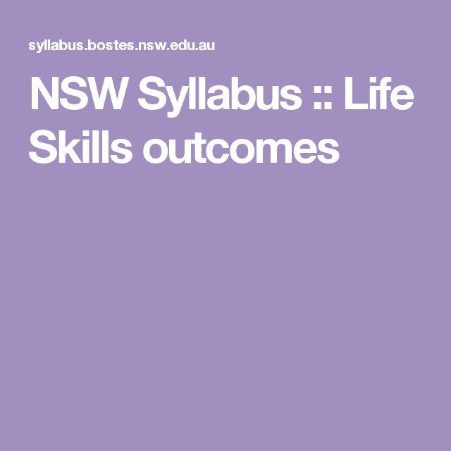 NSW Syllabus :: Life Skills outcomes