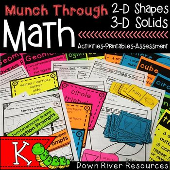 Math Geometry Bundle topics 2-D shapes, 3-D solids, 2-D components of 3-D objects, attributes of 2-D shapes, characteristics of 3-D solids, classification of regular and irregular figures. Geometry will be easier for your young mathematicians to understand with hands-on, engaging activities, and purposeful printables that this bundle offers.Ideas for Use:  Whole Group to Small Group: Use the activities in a whole group setting for the students first introduction to them.