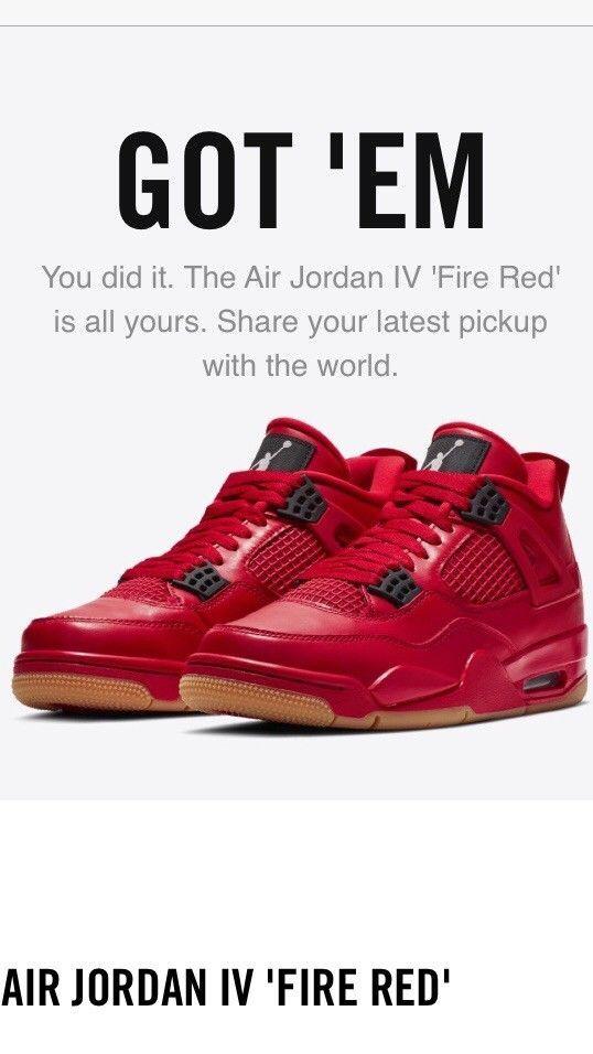 eBay  Sponsored Nike Air Jordan Retro 4 Womens Fire Red Singles Day Size  W12 M10.5 bf849323d