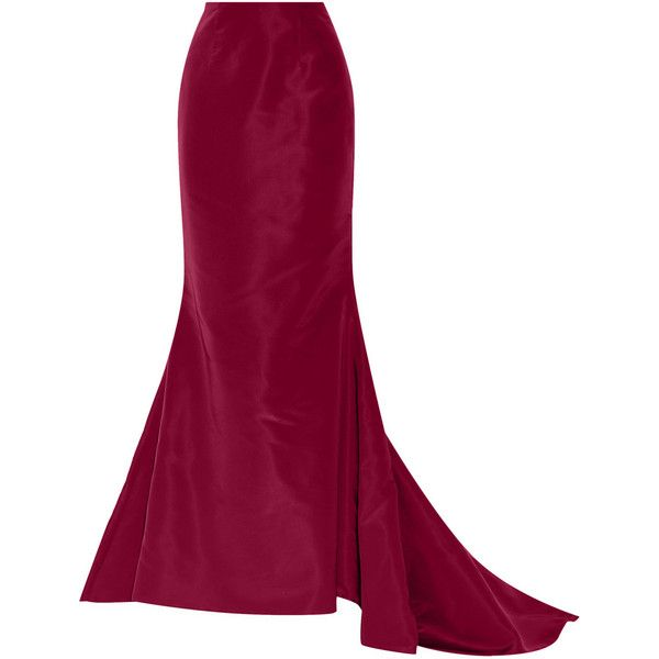 Oscar de la Renta Silk-faille maxi skirt found on Polyvore