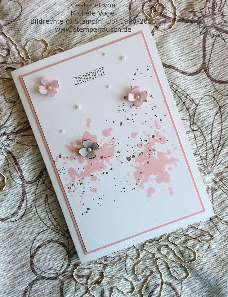 Stampin Up- Romantische Hochzeitskarte- mit Gorgeous Grunge- und Eins für alles