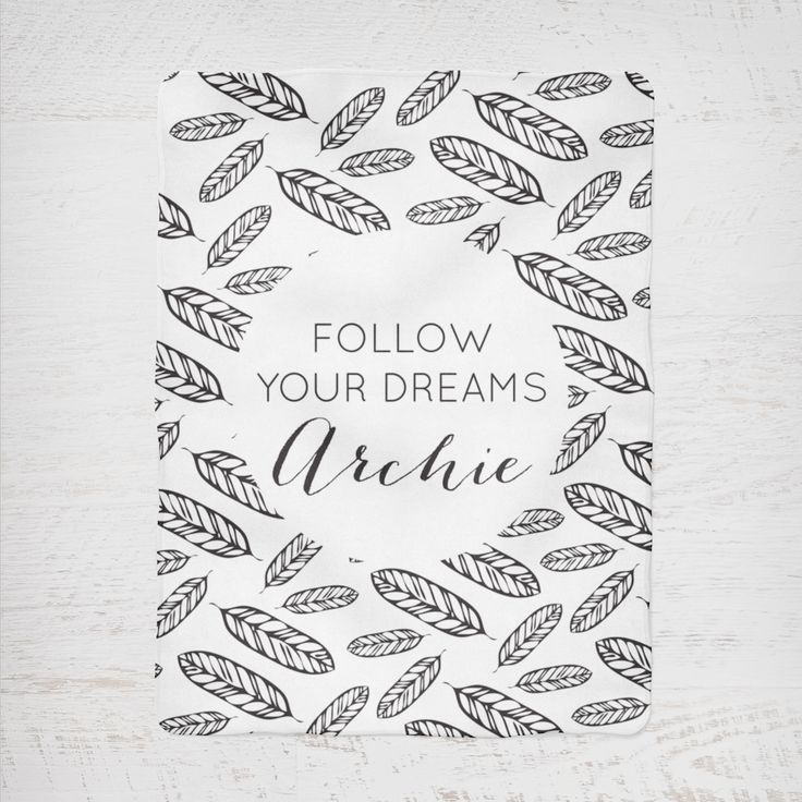 Colour and Spice Personalised Blanket Follow Your Dreams Feather Boho