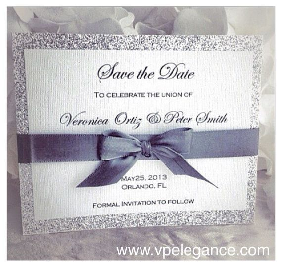 Best  Silver Save The Dates Ideas On   Wedding Save