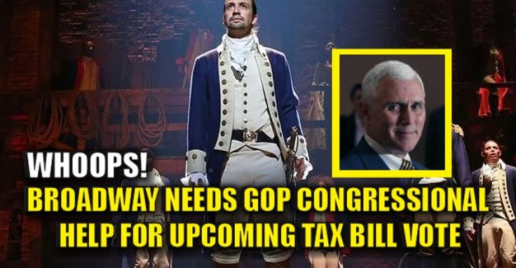 "Whoops, ""Hamilton"" Cast is Heckled for Insulting Pence, ""You Need Republican Votes in Congress for Upcoming Tax Bill!"" 11/19/16"