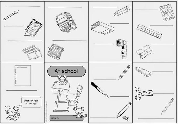 "Englisch in der Grundschule: Faltheft ""school things"""