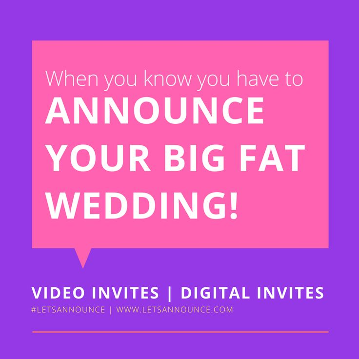 50 best Let\'s Announce Wedding Video Invitations images on ...