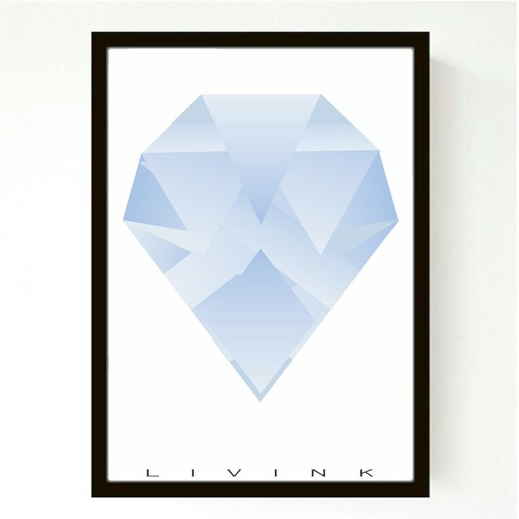 A4 - FORUDBESTILLING - GRADUATED DIAMOND, BLUE via LIVINK. Click on the image to see more!
