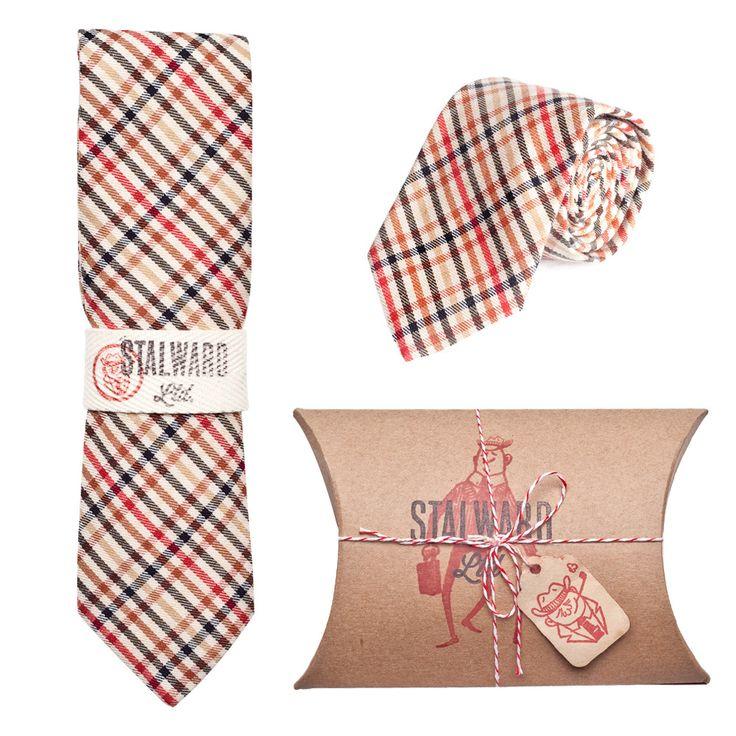 summer check // stalward ltd.: Check Cotton, Boyfriends Style, Men Clothing, Men Fashion, Check Ties, Red Plaid, Cotton Ties, Lightweight Check, Summer Check