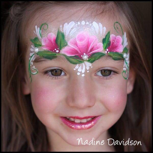 Rose Princess Face Paint | Girls Face Painting | Princess Face Paint | Nadine's Dreams Face Painting