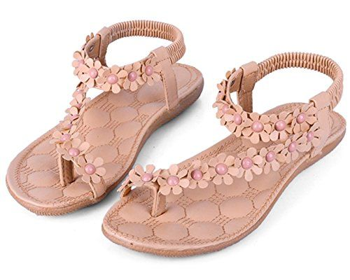 Zeagoo Women Bohemia Flower Beads Flip-flop Shoes Flat Sandals Zeagoo http://www.amazon.com/dp/B00SO6XGBC/ref=cm_sw_r_pi_dp_IUnUvb192P6V6