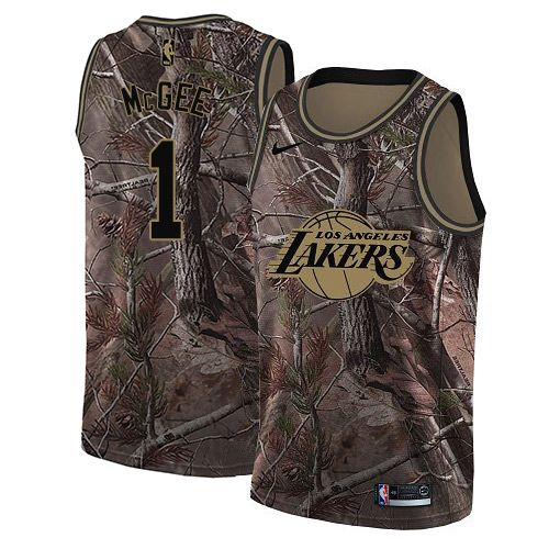 buy online 14bb2 88114 Nike Lakers #1 JaVale McGee Camo Youth NBA Swingman Realtree ...