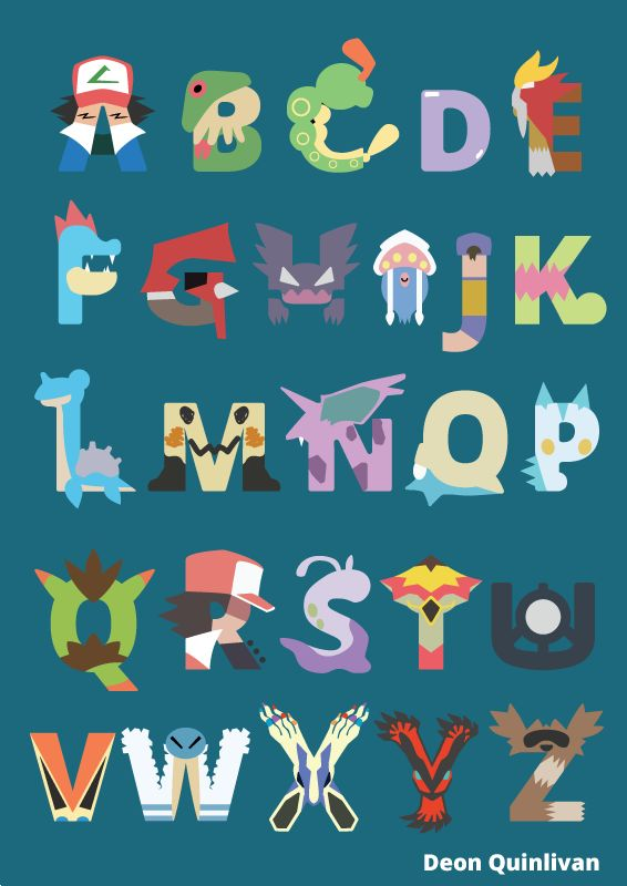 My Pokemon Alphabet