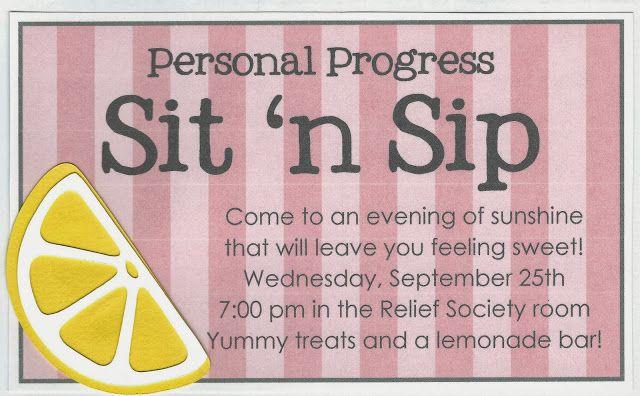 Lemonade bar and four Personal Progress value activities.