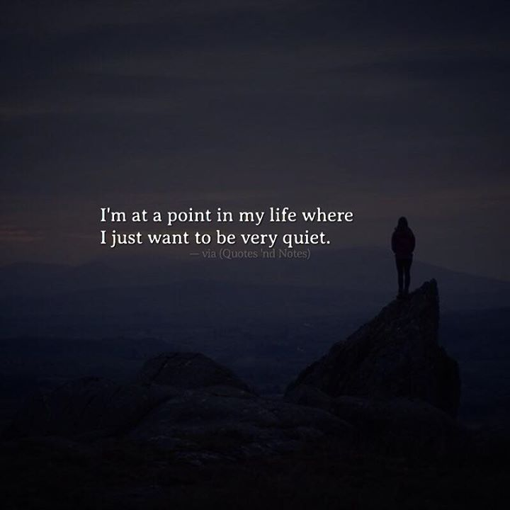 I'm at a point in my life where I just want to be very quiet. —via http://ift.tt/2eY7hg4