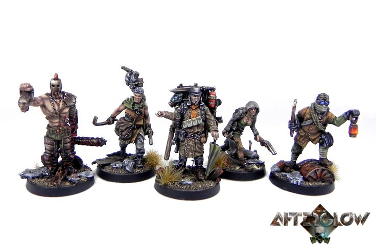 Afterglow | Ludzie pustkowi / Scavengers | Starter set #afterglow #postapo #scifi #fallout #miniatures #tabletop #wargaming #wellofeternity