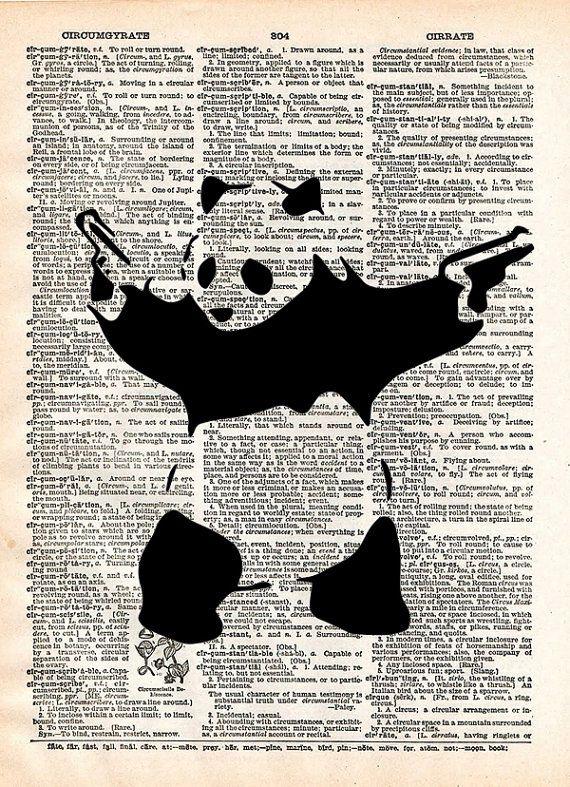 Panda with guns print Panda bear art Banksy wall art by Loft817, $7.99