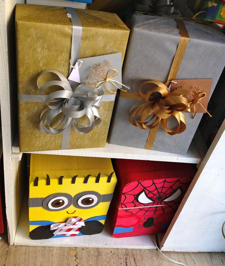 Cajas decoradas con tela o cajas de personajes en www - Cajas de carton decoradas para regalos ...