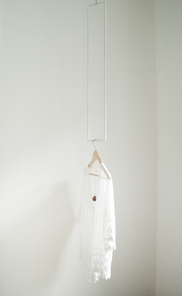 Colgadores geométricos // Rectángulo blanco // Studio M+S (Melissa Dupont+Sybil Roose)