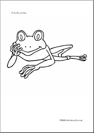 Coloring Page: Tree Frogs -