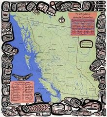 First Nations Map of BC © Lyle Wilson