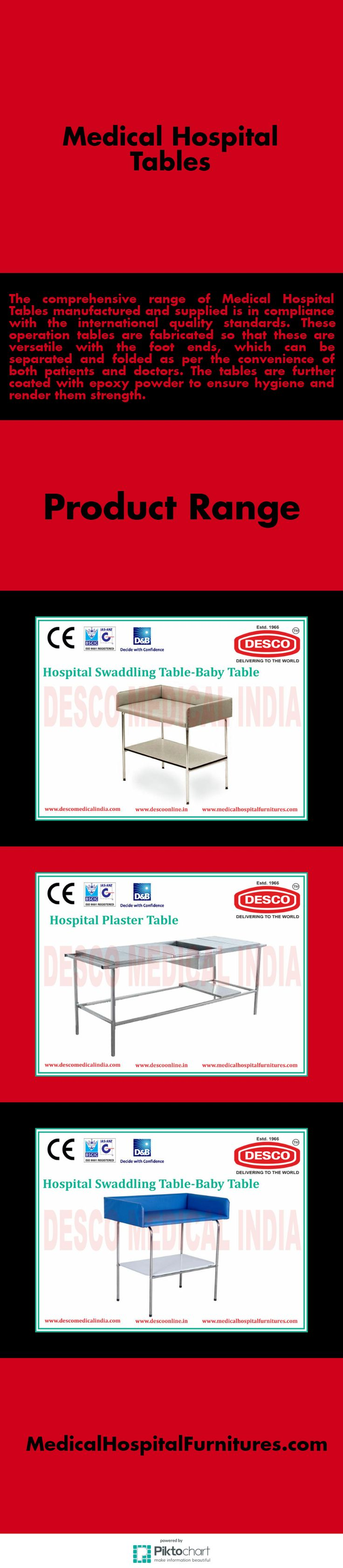 The comprehensive range of Medical Hospital Tables manufactured and supplied is in compliance with the international quality standards.