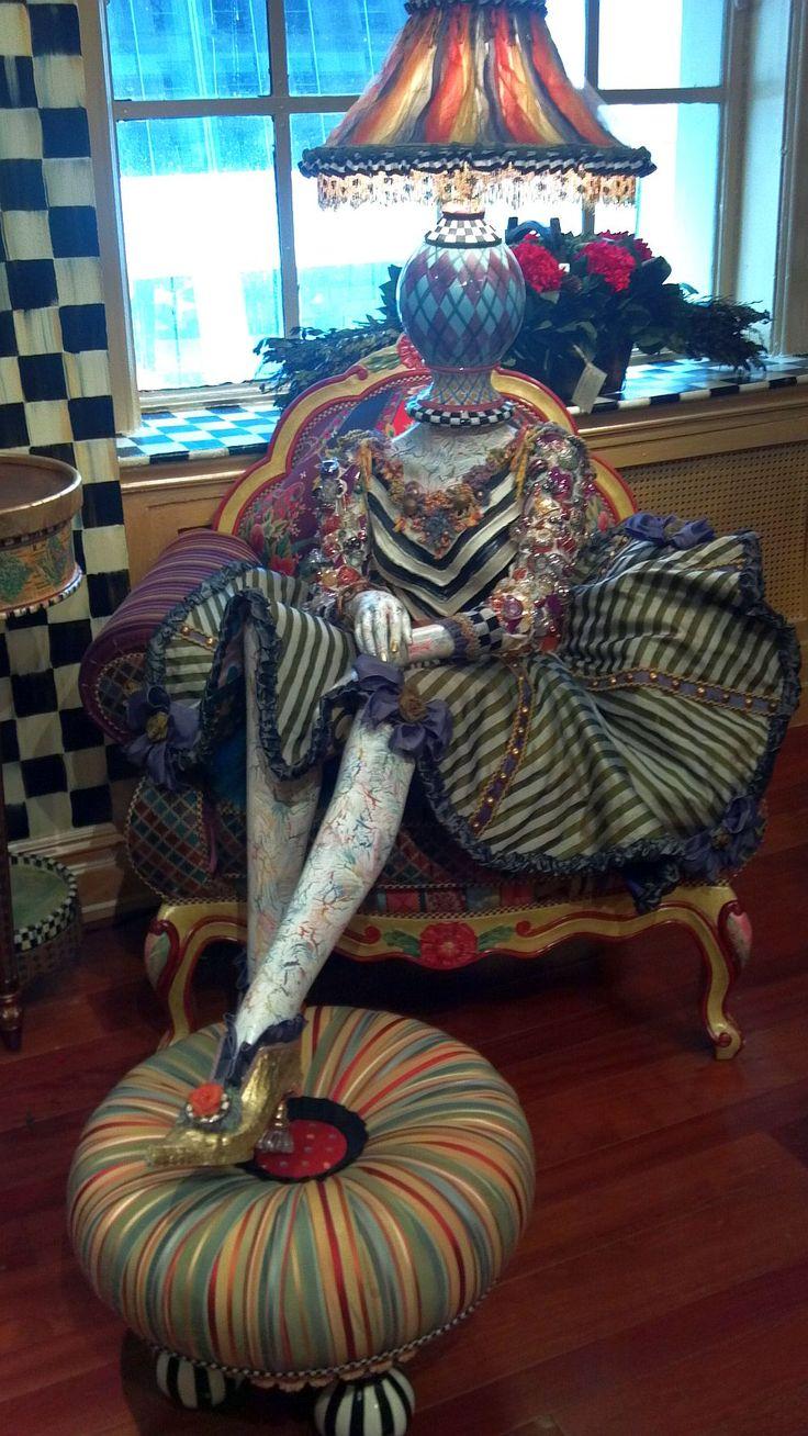 MacKenzie-Childs mannequin display, Feb. 2012 #NYC #retail